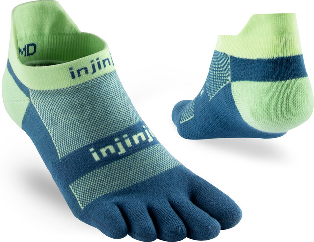 Injinji Run Xtralife Lightweight No Show Socken Herren seafoam